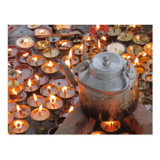 Candles at Boudha Stupa Postcard