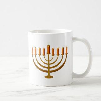 candles candleholder candlestick hanukkah jewish basic white mug