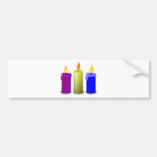 Candles Drawing Bumper Sticker