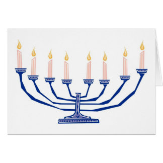 Candles For Hanukkah Card