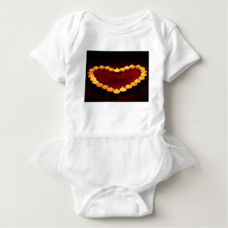 Candles Heart Flame Love Valentine Romance Fire Baby Bodysuit