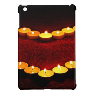 Candles Heart Flame Love Valentine Romance Fire iPad Mini Cover