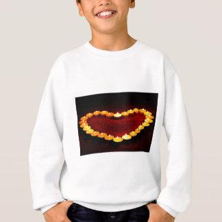 Candles Heart Flame Love Valentine Romance Fire Sweatshirt