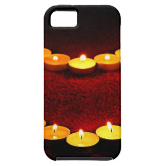 Candles Heart Flame Love Valentine Romance Fire Tough iPhone 5 Case