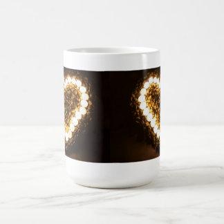 Candles In Heart Shape Classic White Mug