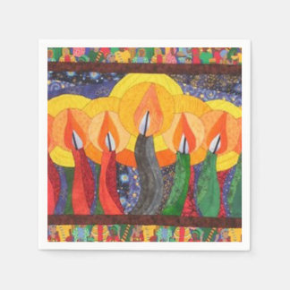 Candles In The Wind Kwanzaa Party Paper Napkins