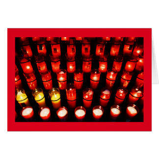 Candles light up the world greeting card