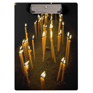Candles lit in a church, Armenia Clipboard
