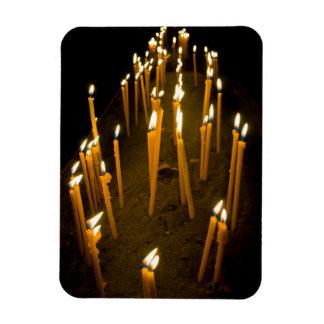 Candles lit in a church, Armenia Magnet