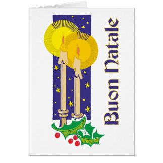 Candles of candles Buon Natale Card