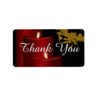 Candles,red Address Label