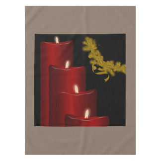 Candles,red Tablecloth