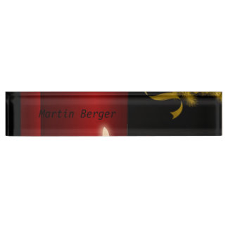 Candles,red Desk Nameplate