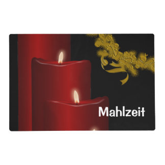 Candles,red Laminated Place Mat