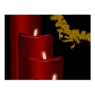 Candles red postcards