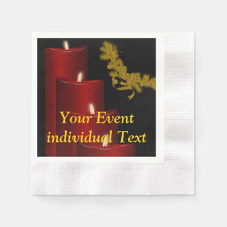 Candles,red Paper Napkin