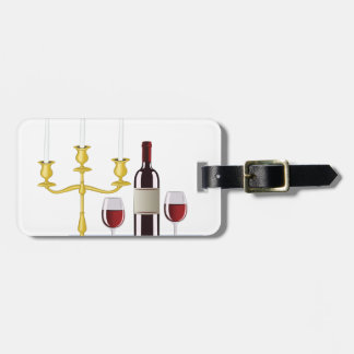 Candles & Wine Bag Tag