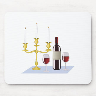 Candles & Wine Mouse Pad