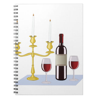 Candles & Wine Notebook
