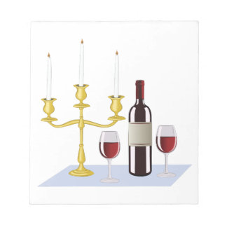 Candles & Wine Notepads