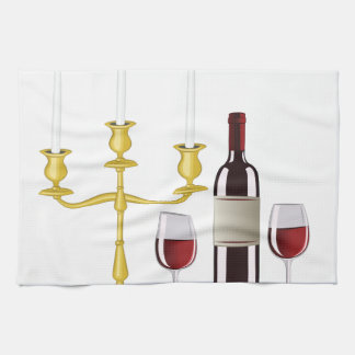 Candles & Wine Towels