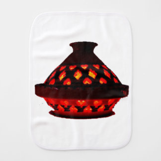 candlestick-tajine burp cloth