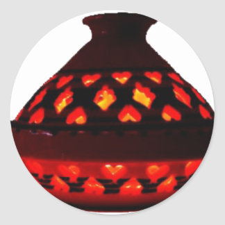 candlestick-tajine classic round sticker