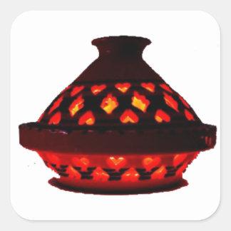 candlestick-tajine square sticker