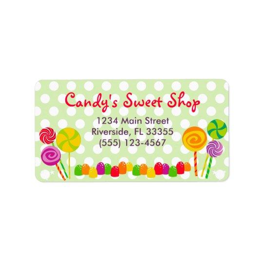 Candy Address Label