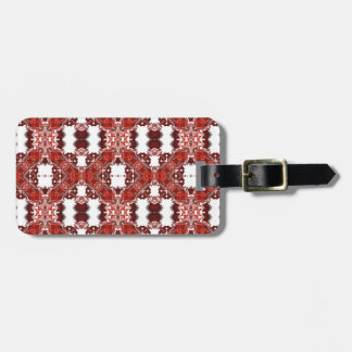 Candy and Currant Red Kaleidoscope Pattern #3 Luggage Tag