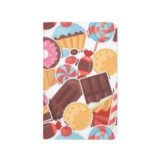 Candy and Pastries Palooza Seamless Pattern Journal