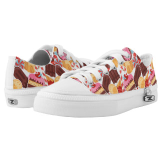 Candy and Pastries Palooza Seamless Pattern Low Tops
