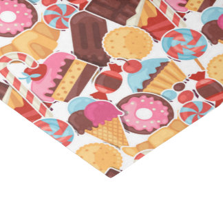 Candy and Pastries Palooza Seamless Pattern Tissue Paper