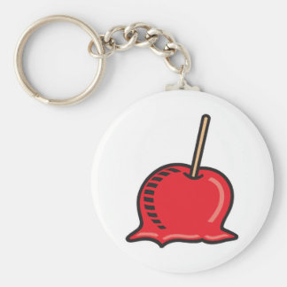 candy apple basic round button key ring