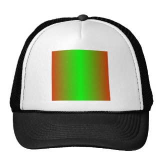 Candy Apple Red and Lime Gradient Trucker Hats
