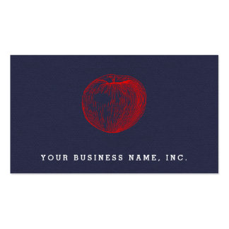 Candy Apple Red Letterpress Apple Business Cards