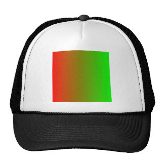 Candy Apple Red to Lime Vertical Gradient Hats