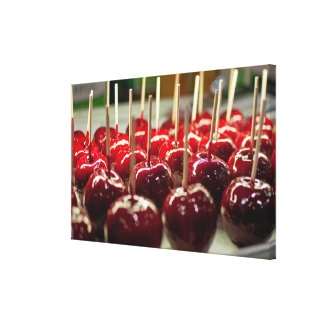 Candy Apples Stretched Canvas Print
