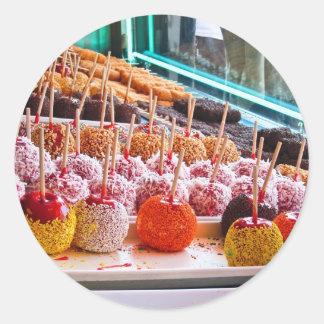 Candy Apples - Coney Island, NYC Round Sticker
