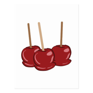 Candy Apples Postcard