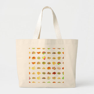 Candy Background Large Tote Bag