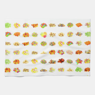 Candy Background Tea Towel