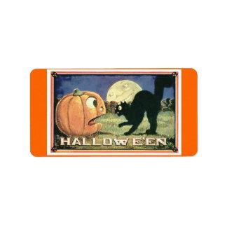 Candy Bag Halloween Address Label