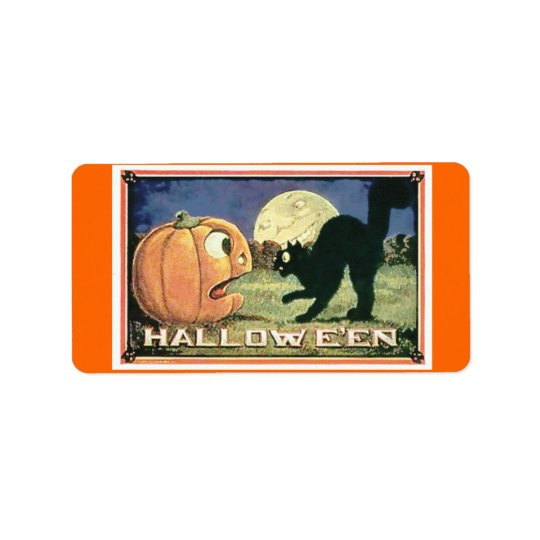 Candy Bag Halloween Address Label