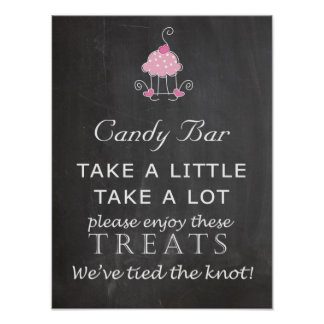 Candy Bar Wedding sign - chalkboard
