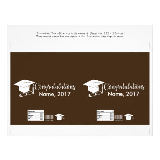 Candy Bar Wrapper -  Graduation Cap