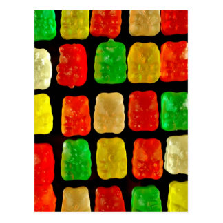 Candy Bears Postcard