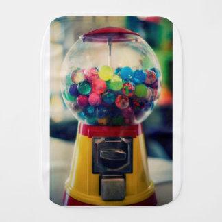 Candy bubblegum toy machine retro burp cloth