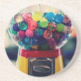 Candy bubblegum toy machine retro coaster