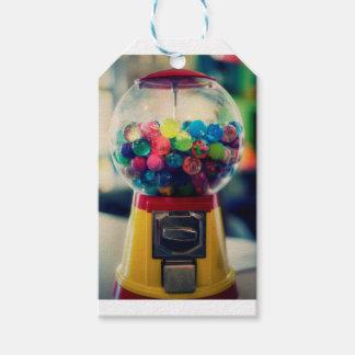 Candy bubblegum toy machine retro gift tags